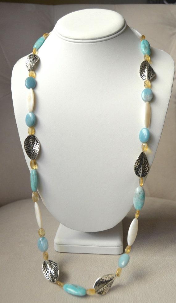 "30"" Peruvian Opal Necklace"