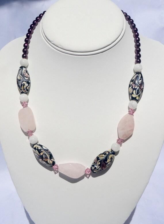 """18"""" Rose Quartz Necklace"""