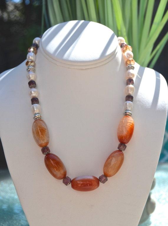 "16"" Apricot Dream Necklace"