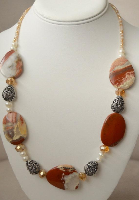 "Bold Red Jasper 20"" Necklace"