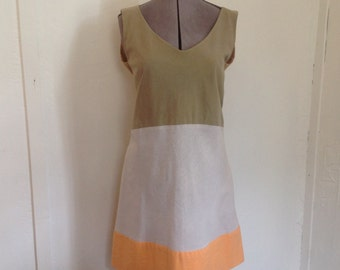 Hand dyed, hand made, women's dress,