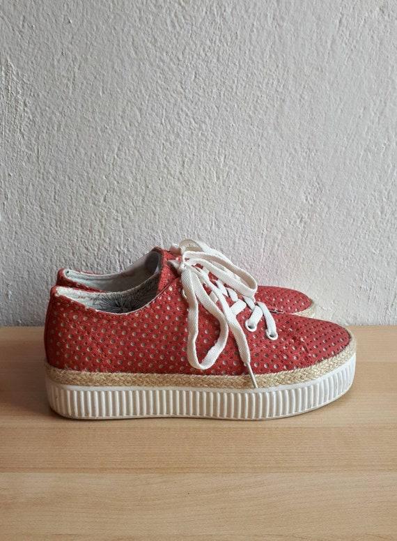 Red Platform Sneakers