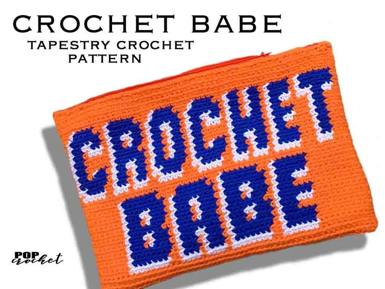 Crochet Babe Tapestry Pouch Pattern image 0
