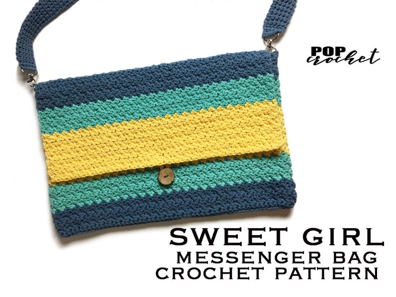 Sweet Girl Messenger Crochet bag Pattern image 0