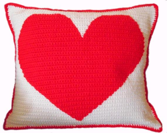 Crochet Pattern Heart Shape Pillow Etsy