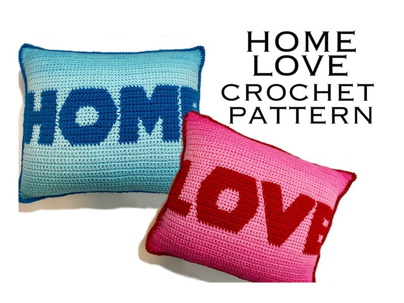 HOME & LOVE Crochet Pillow Pattern image 0