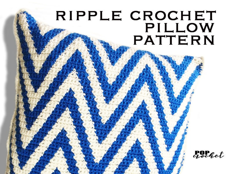 Ripple Crochet Pillow Zig Zag Pattern image 0