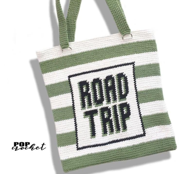 Road Trip Stripes Tote Bag Crochet Pattern crochet tutorial image 0