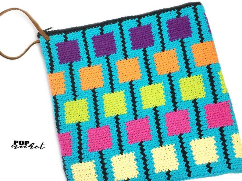 Lollipop Tapestry Crochet Pattern Crochet Pouch Crochet image 0