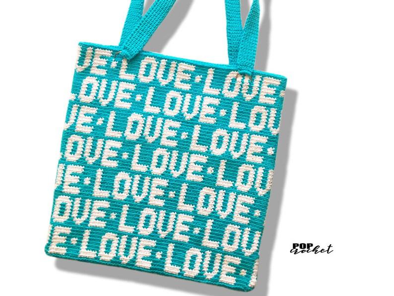 Crochet Tote Bag Pattern  Love Wrap  crochet beginner  image 0