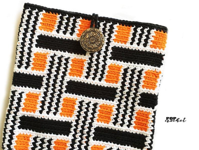 Warble Weave Tapestry Crochet Pattern Crochet Pouch Crochet image 0