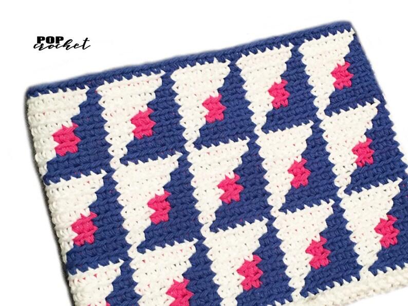 Split Squares Crochet Tapestry Pattern crochet pouch crochet image 0