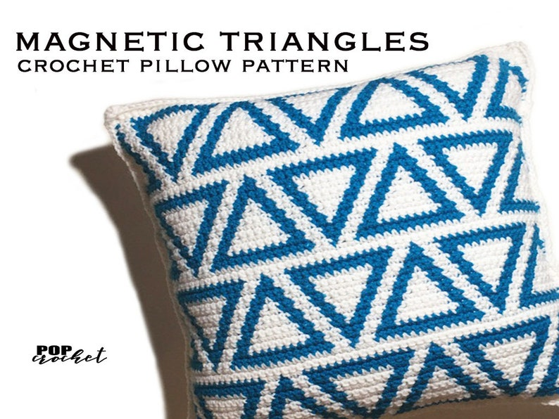 Magnetic Triangles Crochet Pillow Pattern image 0