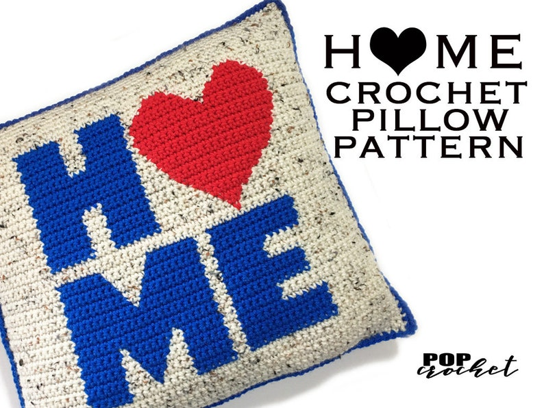 HOME Crochet Pillow Pattern image 0