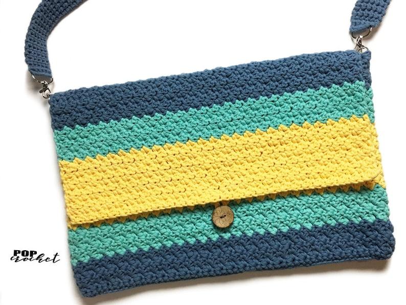 Messenger Crochet Bag Pattern crochet purse suzette stitch image 0