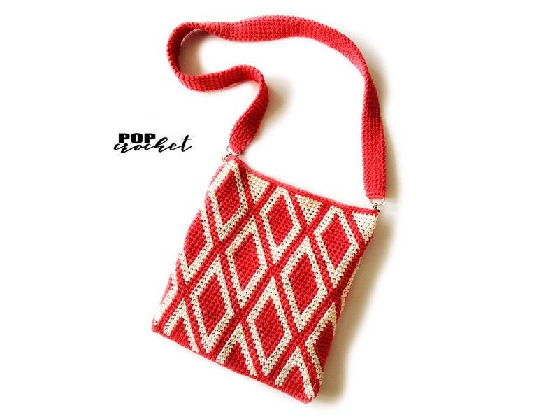 Crochet Bag Pattern  tapestry crochet  crochet beginner  image 0