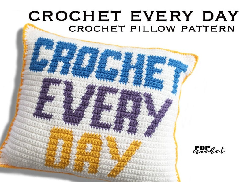 Crochet Every Day Crochet Pillow Pattern image 0