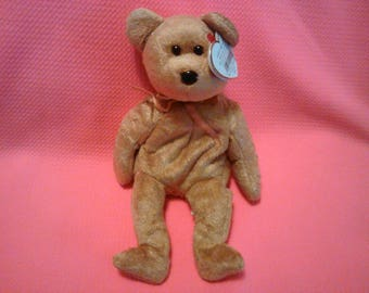 6496ad6d460 CASHEW BEAR Ty Original Beanie Baby Babies beige fur plush toy Bear rare  retired collectible Like new pe pellets Holiday gift