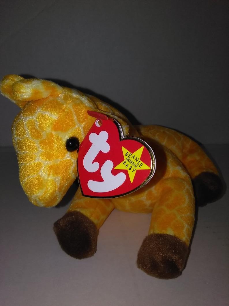 443c4f4eb49 TWIGS GIRAFFE Ty Original Beanie Baby yellow orange brown fur