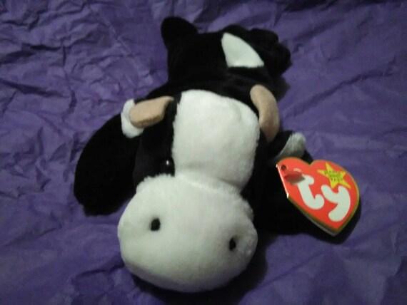 77f48f36ca6 DAISY the COW Ty Original Beanie Baby Babies black white