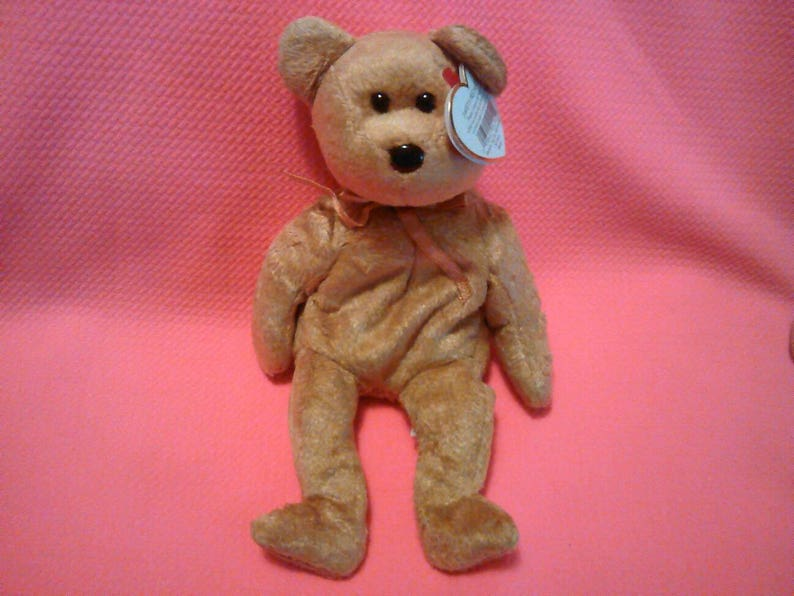 5598b31e953 CASHEW BEAR Ty Original Beanie Baby Babies beige fur plush toy