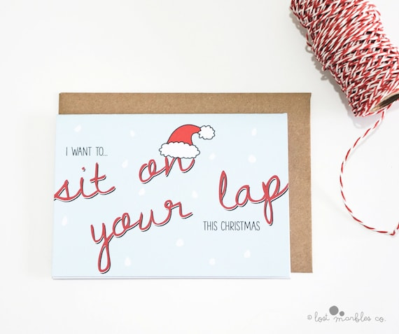 Naughty christmas card holiday card greetings card adult etsy image 0 m4hsunfo