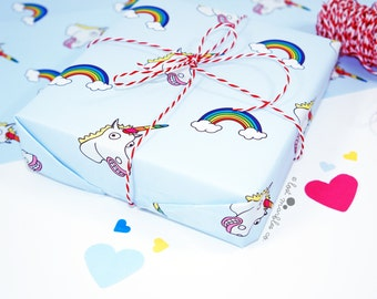 Unicorn Gift Wrap ∙ Wrapping Paper ∙ Birthday Gift Wrap ∙ Present Wrapping ∙ Bff Giftwrap ∙ Funny Wrapping Paper ∙ Unicorn Wrapping Paper