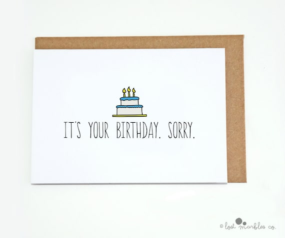 Birthday Card Funny Cake Her