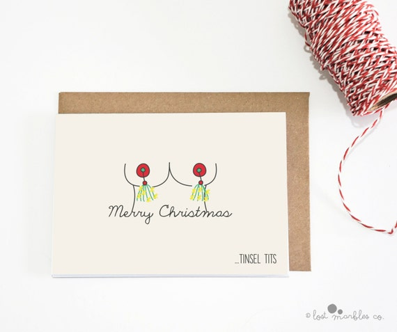 Christmas Card Greetings.Naughty Christmas Card Funny Holiday Card Greetings Card Holiday Card Seasonal Card Adult Card Merry Christmas Tinsel T Ts