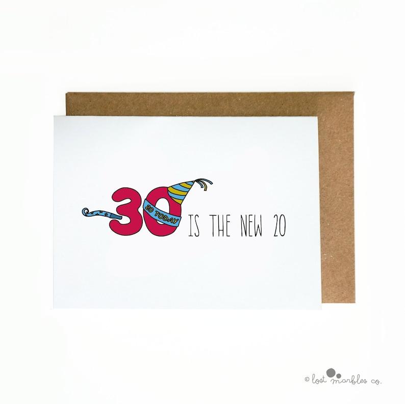 30th Birthday Card Funny Joke