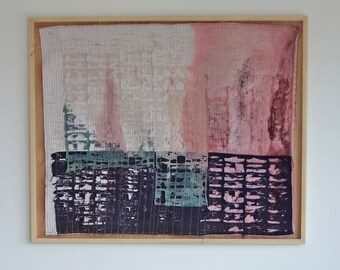 Wall Hanging, Textile art, Textile art wall hanging, Decorative art, Home decor, Wall decor, One of a kind fiber art, Gift for home