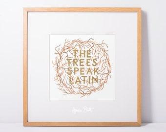 The Trees Speak Latin - The Raven Boys Quote