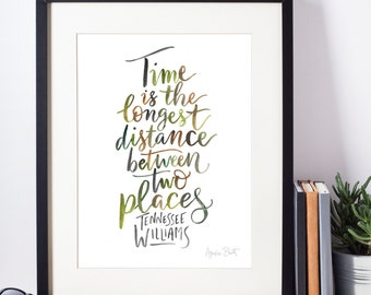 Tennessee Williams Watercolour Quote