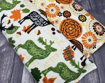 Microwave heat pad.  Heating pad microwave. Rice heating pad.  Reusable.  Rice bag for heat therapy.  Autumn colors, woodland and medallions