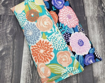 Reusable microwave heat pad. Lavender eye pillow. Rice and flaxseed heating pad. Hot/cold pack. Large heating pad. Get well gift yoga gift