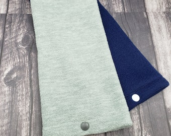 Microwave heat pad washable cover!  Soft and cozy fleece.  Heather gray and navy blue. No heat pad included