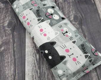 Adorable gift!  Microwave heat pad.  Rice and flaxseed heating pad. Heat pad reusable. With lavender or without lavender. Natural self care