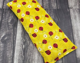 Reusable hot/cold pack.  Microwave heat pad. Rice and flax heating pad. Heat pack reusable.  Large heating pad.  Eye pillow. Heat pad