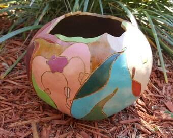 Fine Art Painted Gourd