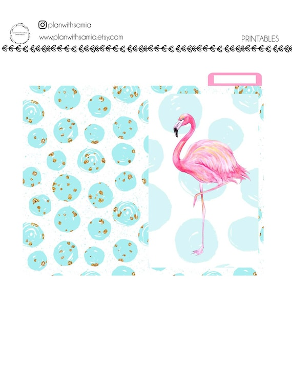 Flamingo - Pocket Travelers Notebook (TN) Dashboard, Pocket Folder, Notebook Cover