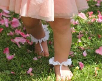 Bambino a piedi nudi sandali, sandali a piedi nudi delle ragazze di fiore, Baby shower, Baby Foot accessori, foto prop, sandali a piedi nudi, battesimo, scarpe da sposa