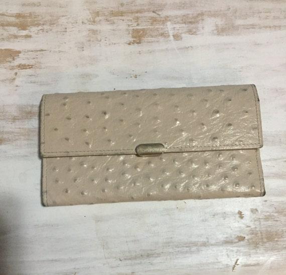 Ostrich leather wallet by Jafferies