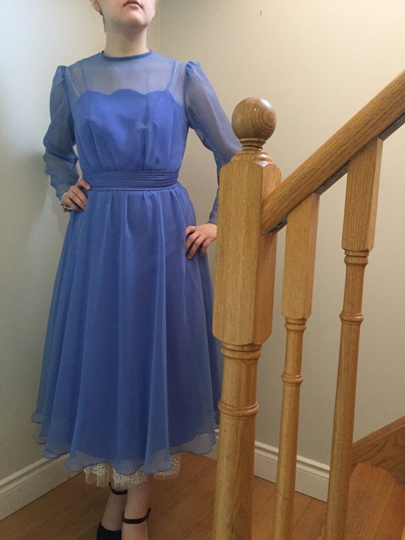 1980s does 1950s Cinderella Blue Party/Evening Dre