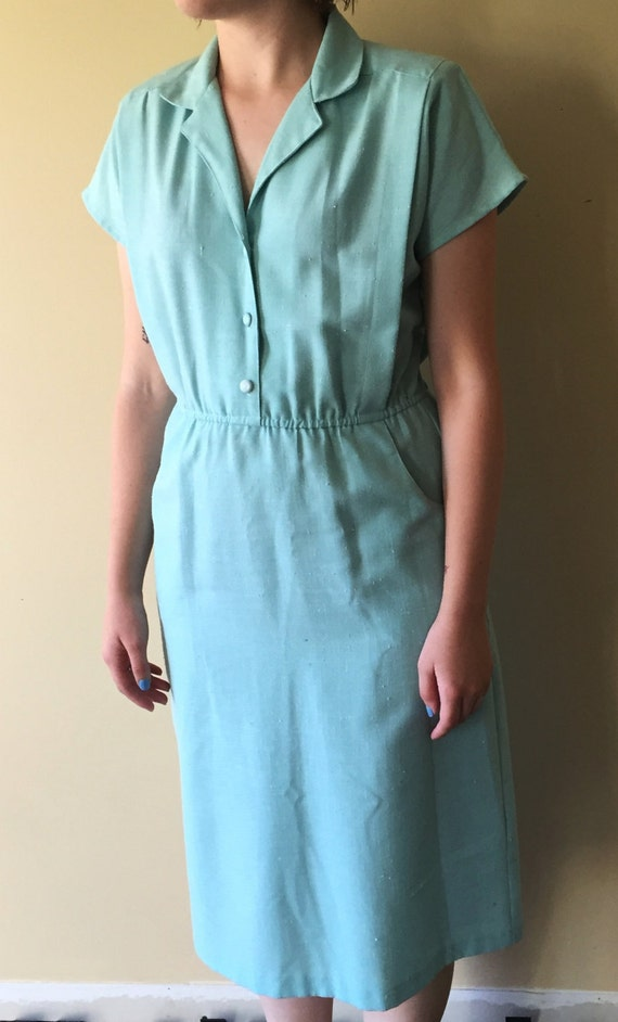 1980s does 1950s mint day dress!