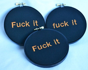 Cussing Embroidery Decoration