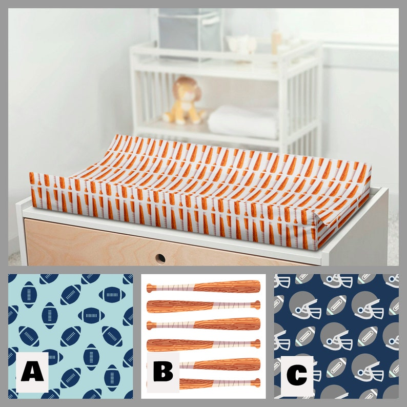 Football Crib Bedding Set Boy Nursery Bedding Baseball ...