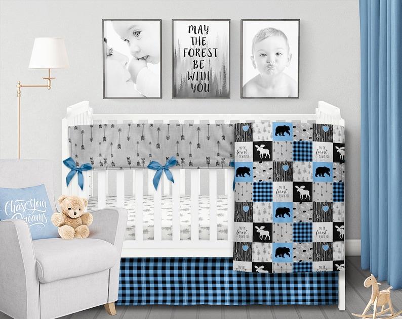 Buffalo plaid baby Farmhouse pillow Woodland boys room Woodland nursery boy Superhero pillowcase