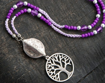 Long Purple Bohemian Necklace