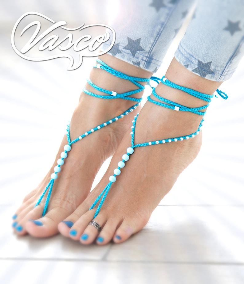 DescalzosDescalzos Pies ZapatosJoyeríaPlaya Perla SandaliasSandalia De Océano Azul Sandalias N0wnm8
