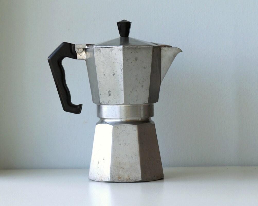 traditional italian coffee maker vintage  moka express